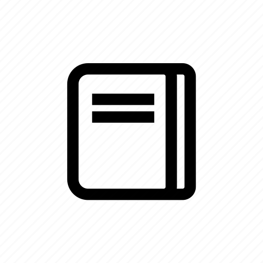 book, diary, handbook, note, text icon
