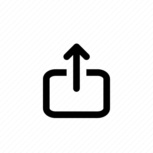 distribute, export, forward, send, share icon