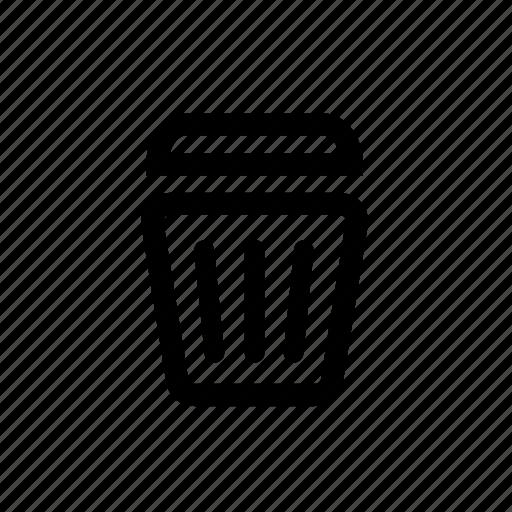 bin, delete, empty, junk, trash icon