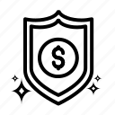 desain, dollar, file, money, shield