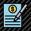 desain, document, file, money, pen, proposal, report