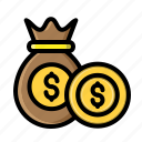 coin, desain, file, money, sack, sack money