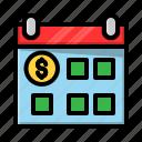 calendar, desain, file, money