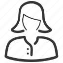 avatar, business, female, girl, user, woman