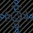 goal, target, teamwork icon