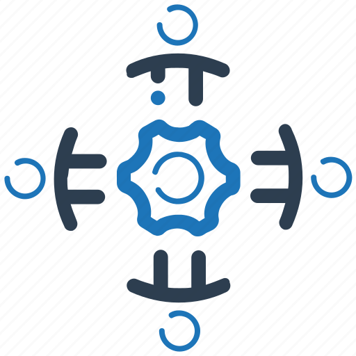 business planning, strategy, teamwork icon
