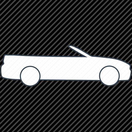 automobile, cabrio, car, sportcar, vehicle icon