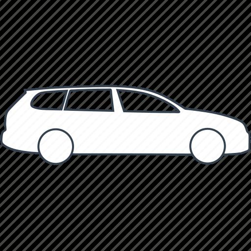 automobile, car, combi, wagon icon
