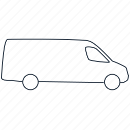 car, lorry, transport, transportation, truck, van, vehicle icon