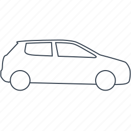 automobile, car, hatchback, small, transport, vehicle icon