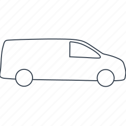 automobile, car, cars, delivery, lorry, truck, van icon