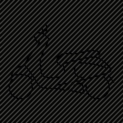 car, scooter, transportation, vehicle, vespa icon