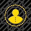 account, edit, gear, options, profile, settings, user