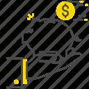 banking, coin, money, safe icon