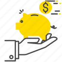 banking, finance, money, safe icon