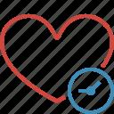 bookmark, clock, favorites, heart, like, love