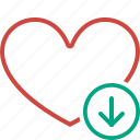 bookmark, download, favorites, heart, like, love