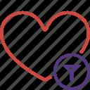 bookmark, favorites, filter, heart, like, love