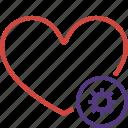 bookmark, favorites, heart, like, love, settings
