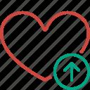 bookmark, favorites, heart, like, love, upload