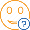 emoticon, emotion, face, help, smile