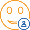 emoticon, emotion, face, smile, user