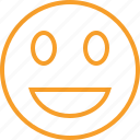 emoticon, emotion, face, laugh, smile