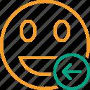 emoticon, emotion, face, laugh, previous, smile