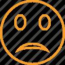 emoticon, emotion, face, smile, unhappy