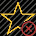 achievement, bookmark, cancel, favorite, rating, star