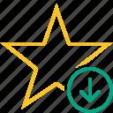achievement, bookmark, download, favorite, rating, star