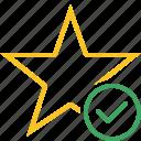 ok, star, achievement, bookmark, favorite, rating