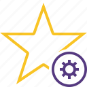settings, star, achievement, bookmark, favorite, rating