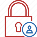access, lock, password, protection, secure, user icon
