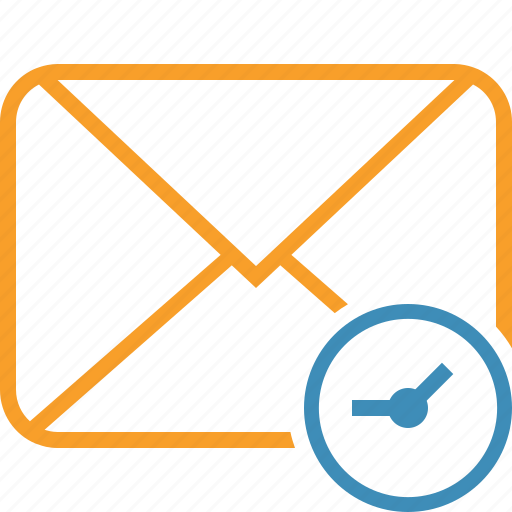 clock, communication, email, letter, mail, message icon
