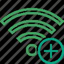 add, connection, fi, internet, wi, wifi, wireless