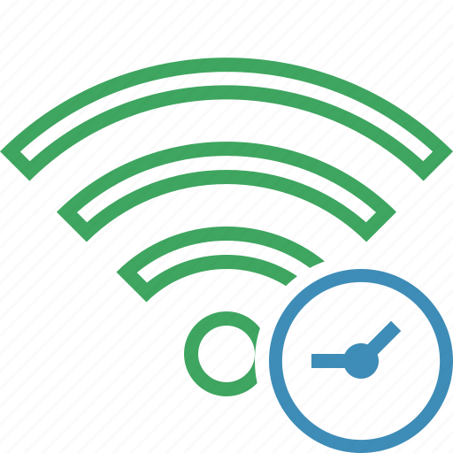 clock, connection, fi, internet, wi, wifi, wireless icon