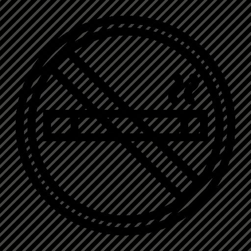 forbidden, no, prohibited, smoking icon