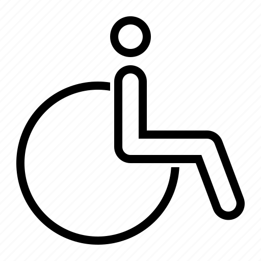 armchair, disability, invalid, wheelchair icon