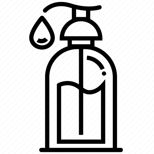 body, bottle, lotion, oil, outline, shampoo, shower icon