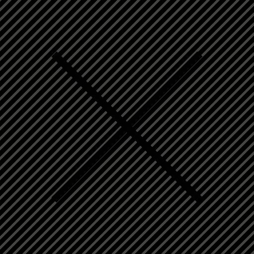 clear, close, direction, eliminate, no, remove icon