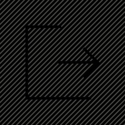 arrow, arrows, direction, exit, navigation, right icon