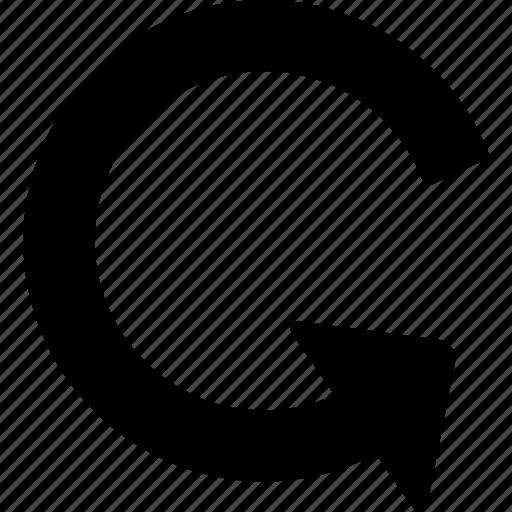 restore, rotation icon