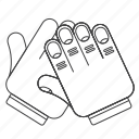 clap, gesture, outline icon