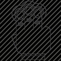 finger, gesture, multi, outline, tap icon