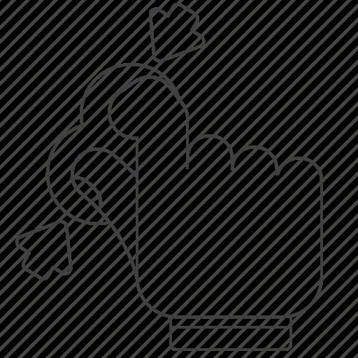 gesture, outline, pinch icon