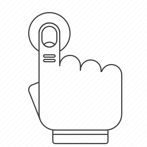 gesture, outline, press icon