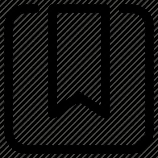 bookmark, ribbon, shortcut, tab icon