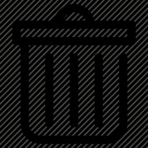 bin, delete, trashcan icon