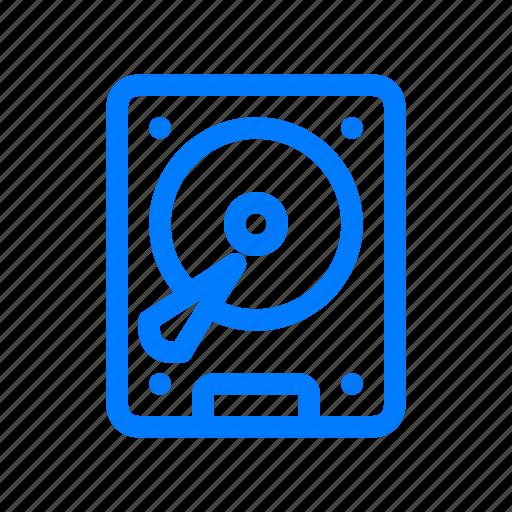 database, drive, harddisk, storage icon